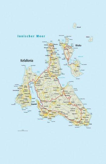 karte kefalonia griechenland Kefalonia Karte   Kefalonia Griechenland