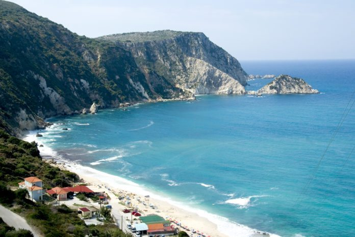 Petani Beach auf der Halbinsel Paliki