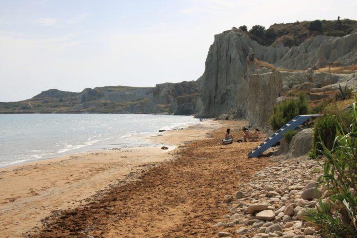 Xi Beach auf der Halbinsel Paliki