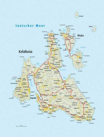 karte kefalonia griechenland Karte   Kefalonia Griechenland