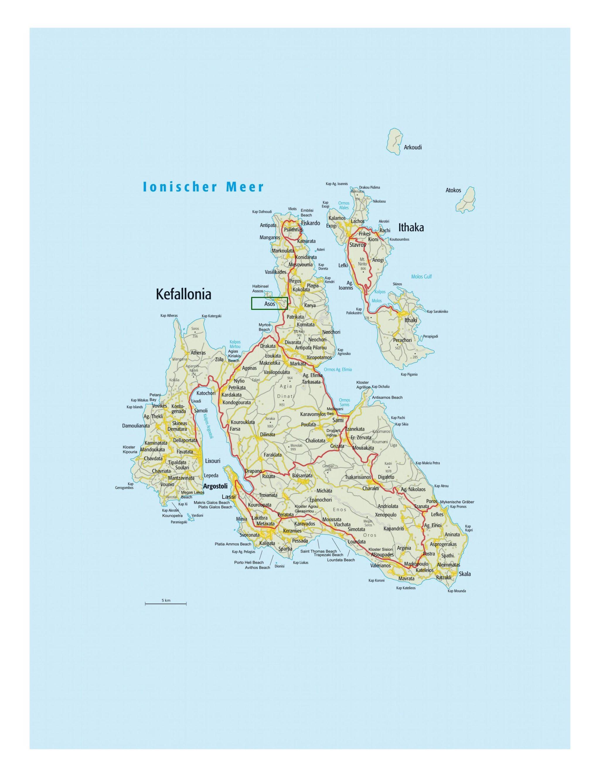 Karte Assos